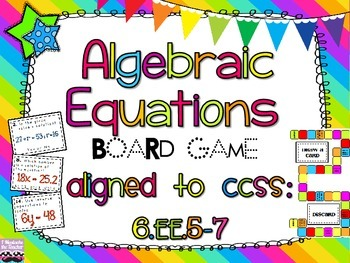 Algebraic Equations Board Game