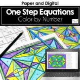 One Step Equations Color by Number Distance Learning