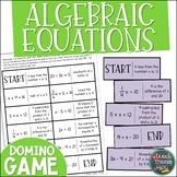 Algebraic Equations Domino Game