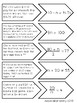 Algebraic Equations Matching Activity/Game