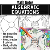 Algebraic Equations Math Wheel, with Editable Wheel