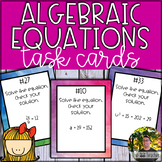 Algebraic Equations Task Cards