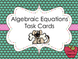 Algebraic Equations Task Cards (Dog)
