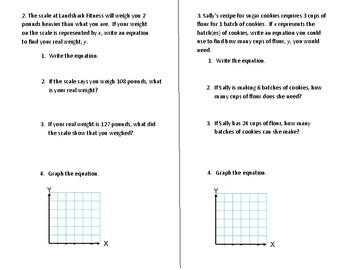 Algebraic Equations Word Problem Notes
