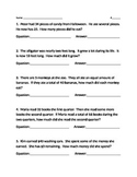 Algebraic Equations (Word Problems)