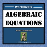 Algebraic Equations Worksheets