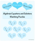 Algebraic Equations and Solutions Heart Puzzles