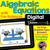 Algebraic Equations with Pan Balances Digital Boom Cards