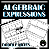 Algebraic Expression Doodle Notes