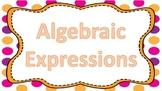 Algebraic Expression Task Cards