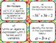 Algebraic Expression Vocabulary Task Cards