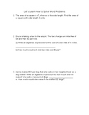 Algebraic Expression Word Problem Note Sheet