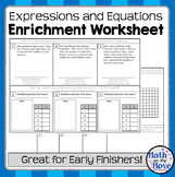 Expression and Equation - Enrichment Worksheet (7.EE.2 and 7.EE.3)