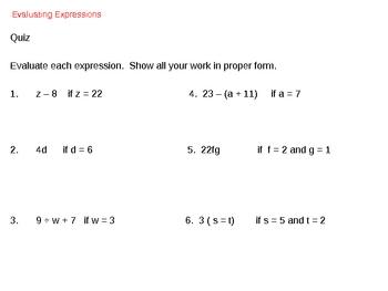 Algebraic Expression and Integers