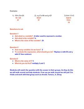 Algebraic Expression lesson