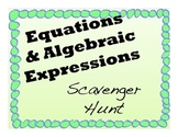 Algebraic Expressions And Equations Task Cards Scavenger Hunt