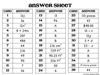 Algebraic Expressions Board Game