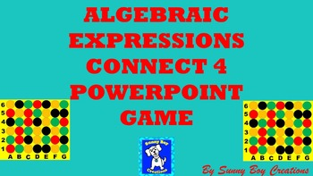Algebraic Expressions Connect 4 Powerpoint Game