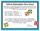 Algebraic Expressions Dice Game - Evaluating Expressions -