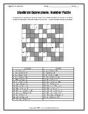 Evaluating Algebraic Expressions Positives Only Worksheet Bundle