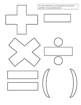 Algebraic Expressions Fill in