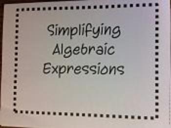 Algebraic Expressions Foldable