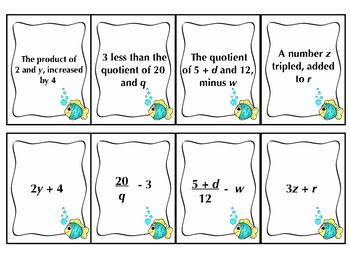 Algebraic Expressions Go Fish