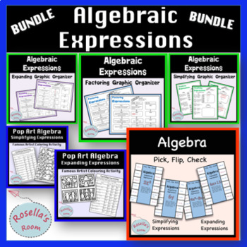 Algebraic Expressions Graphic Organizers and Activity Bundle