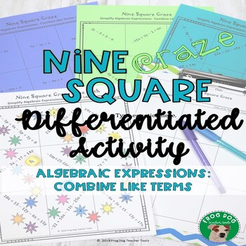 Algebraic Expressions Combine Like Terms Printable Game Activity