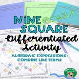 Algebraic Expressions Combine Like Terms Activity Game Rev