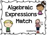 Algebraic Expressions Match
