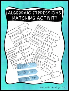 Algebraic Expressions Matching Activity/Game