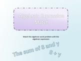 Algebraic Expressions Matching Game