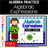 Algebraic Expressions Mini Game