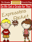 Algebraic Expressions Packet