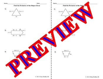 Algebraic Expressions (Perimeter!)