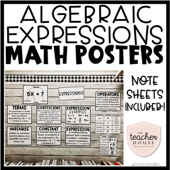 Algebraic Expressions Posters
