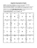 Algebraic Expressions Puzzle