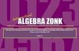 Algebraic Expressions Review Game (Zonk)