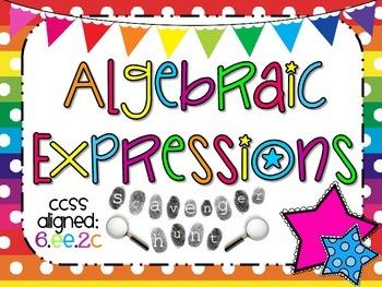 Algebraic Expressions Scavenger Hunt Activity