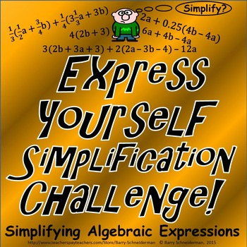 Simplifying Algebraic Expressions (FREE Simplification Challenge!)