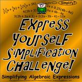 Simplifying Algebraic Expressions (FREE Simplification Cha