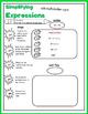 Algebraic Expressions - Simplifying Graphic Organizer