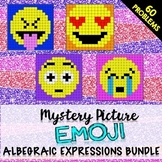 Algebraic Expressions Bundle: Mystery Pictures (Emojis)