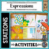 Algebraic Expressions Math Stations