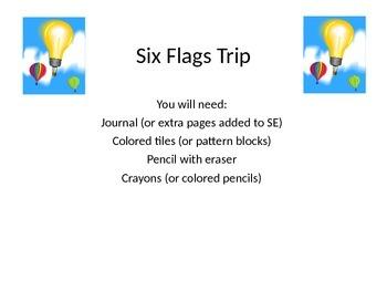 Algebraic Expressions Task: Six Flags Trip!