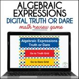Algebraic Expressions Truth or Dare Digital Math Game