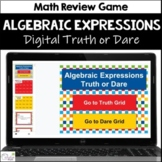 Distance Learning Algebraic Expressions Activity | Truth o