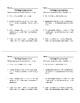 Warm Ups: Algebraic Expressions