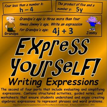 writing algebraic expressions powerpoint Algebraic expressions game - math play.